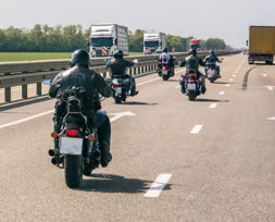 Riders on road